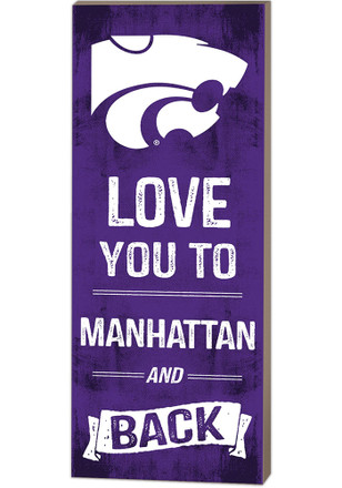 K-State Wildcats 18x7 Love You To... And Back Wall Art
