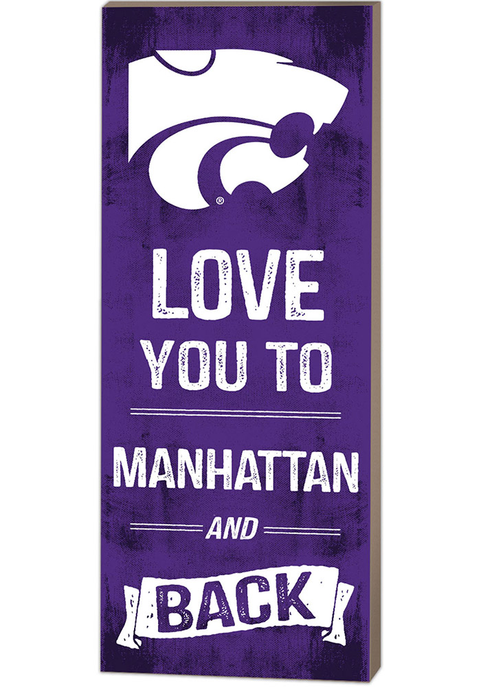 K State Wildcats 18x7 Love You To... And Back Wall Art
