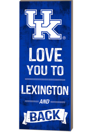 Kentucky Wildcats 18x7 Love You To... And Back Wall Art