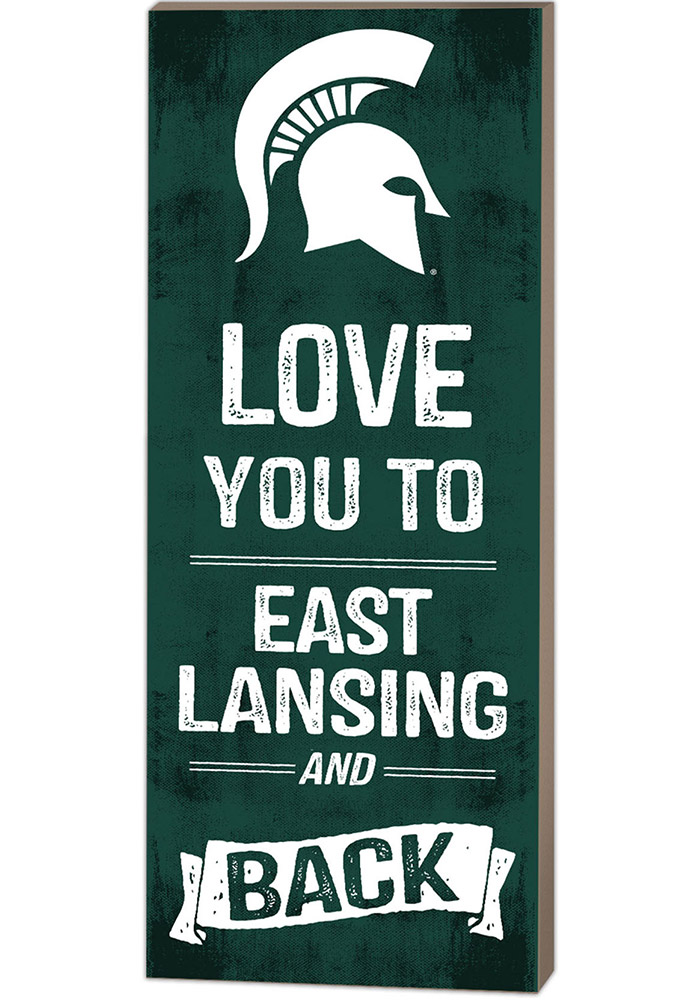 Michigan State Spartans 18x7 Love You To... And Back Wall Art - Image 1