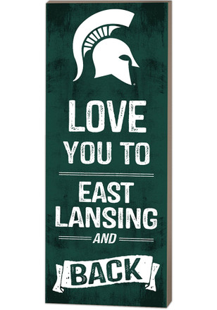 Michigan State Spartans 18x7 Love You To And Back Wall Art