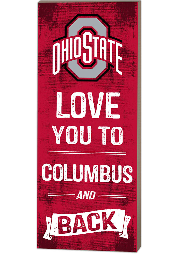 Ohio State Buckeyes 18x7 Love You To... And Back Wall Art - Image 1