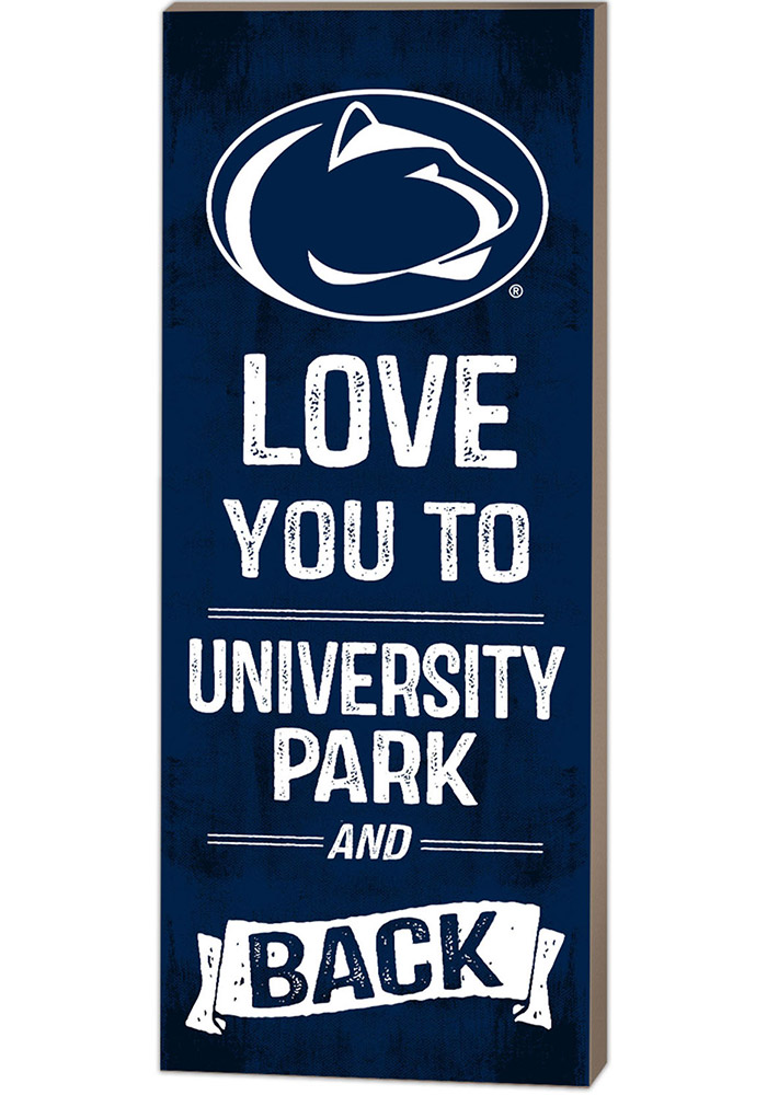 Penn State Nittany Lions 18x7 Love You To... And Back Wall Art - Image 1