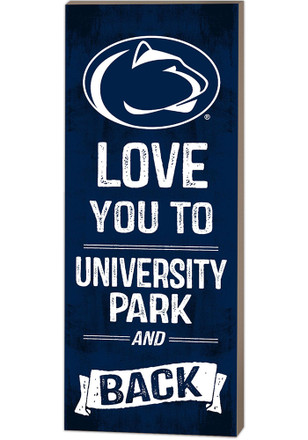 Penn State Nittany Lions 18x7 Love You To... And Back Wall Art