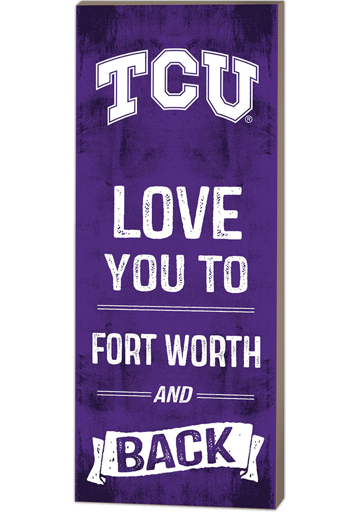 TCU Horned Frogs 18x7 Love You To... And Back Wall Art - Image 1