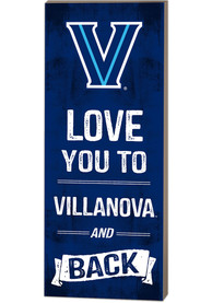 Villanova Wildcats 18x7 Love You To... And Back Wall Art