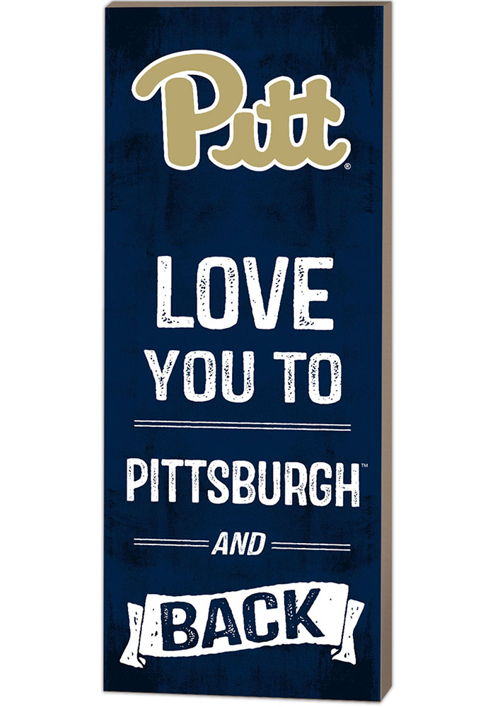 Pitt Panthers 18x7 Love You To... And Back Wall Art - Image 1