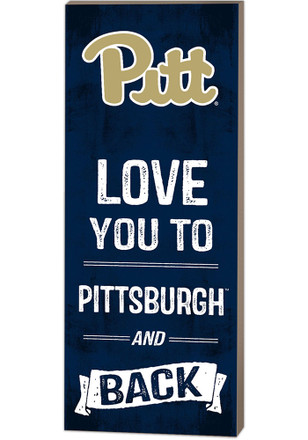 Pitt Panthers 18x7 Love You To... And Back Wall Art