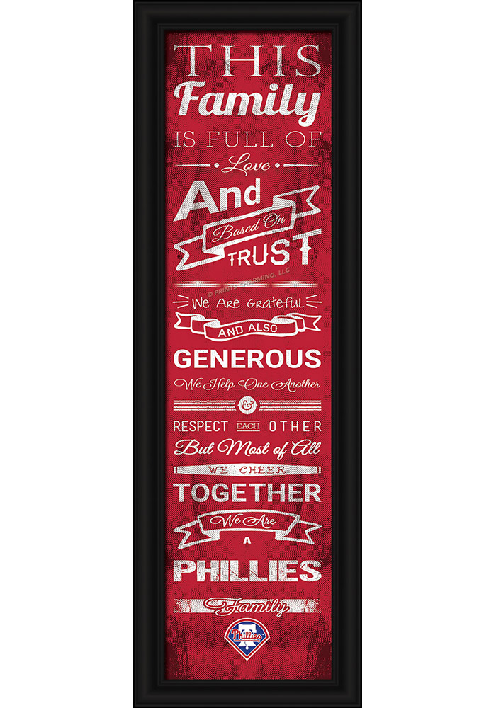 Philadelphia Phillies 8x24 Family Cheer Wall Art - Image 1