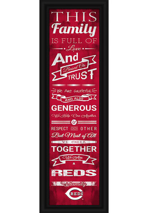 Cincinnati Reds 8x24 Family Cheer Wall Art