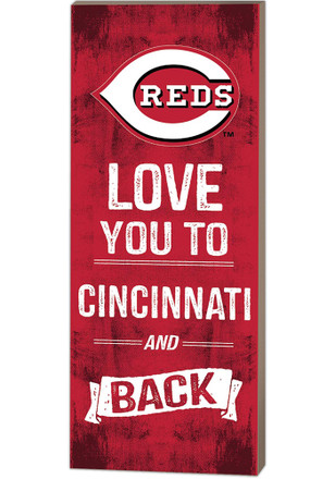Cincinnati Reds 18x7 Love You To…And Back Wall Art