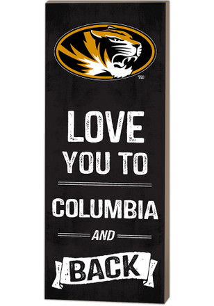 Missouri Tigers 18x7 Love You To…And Back Wall Art