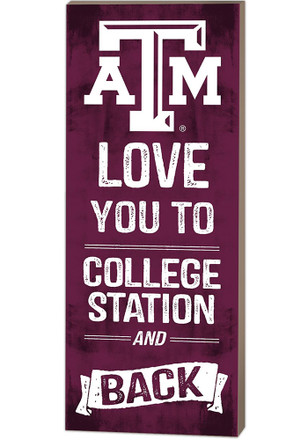 Texas A&M Aggies 18x7 Love You To…And Back Wall Art