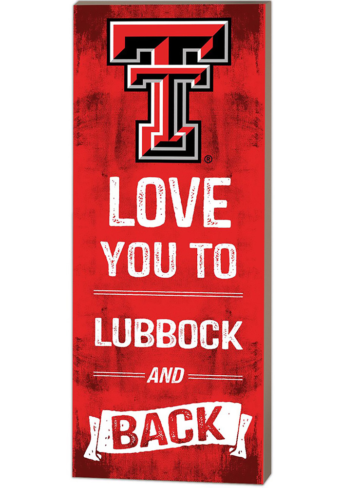 Texas Tech Red Raiders 18x7 Love You To And Back Wall Art - Image 1