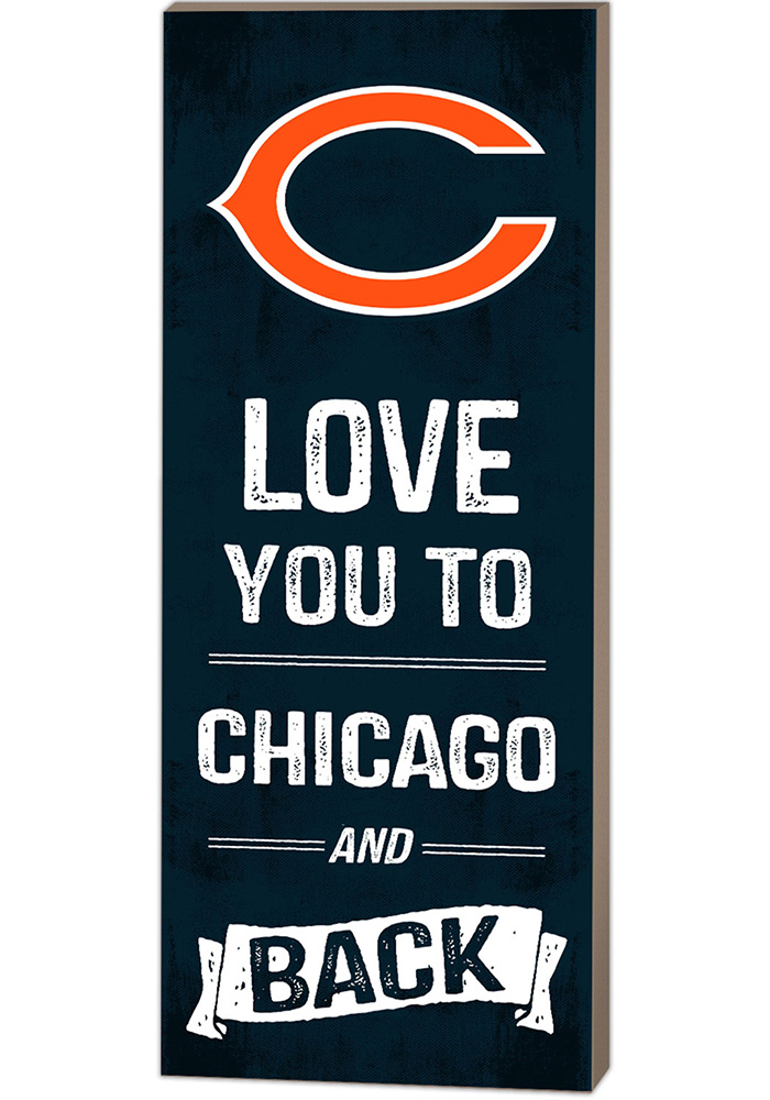 Chicago Bears 18x7 Love You To And Back Wall Art - Image 1