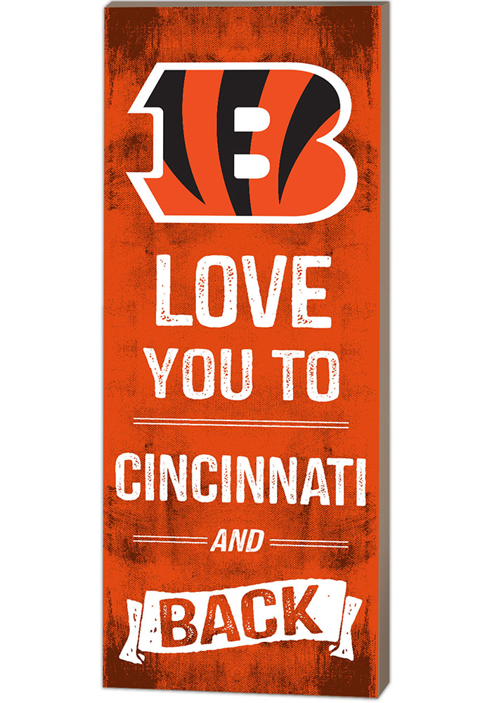 Cincinnati Bengals 18x7 Love You To And Back Wall Art - Image 1