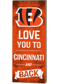 Cincinnati Bengals 18x7 Love You To…And Back Wall Art