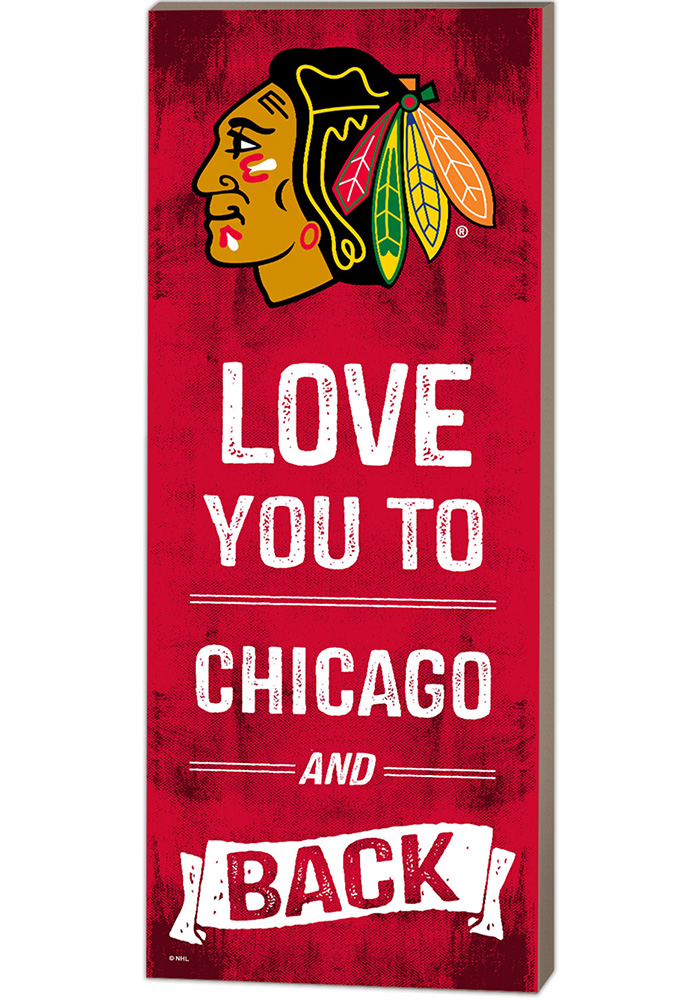Chicago Blackhawks 18x7 Love You To And Back Wall Art - Image 1