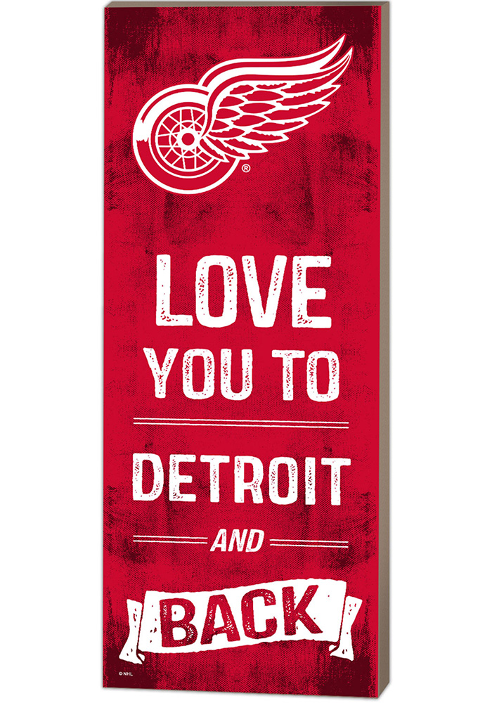 Detroit Red Wings 18x7 Love You To And Back Wall Art - Image 1