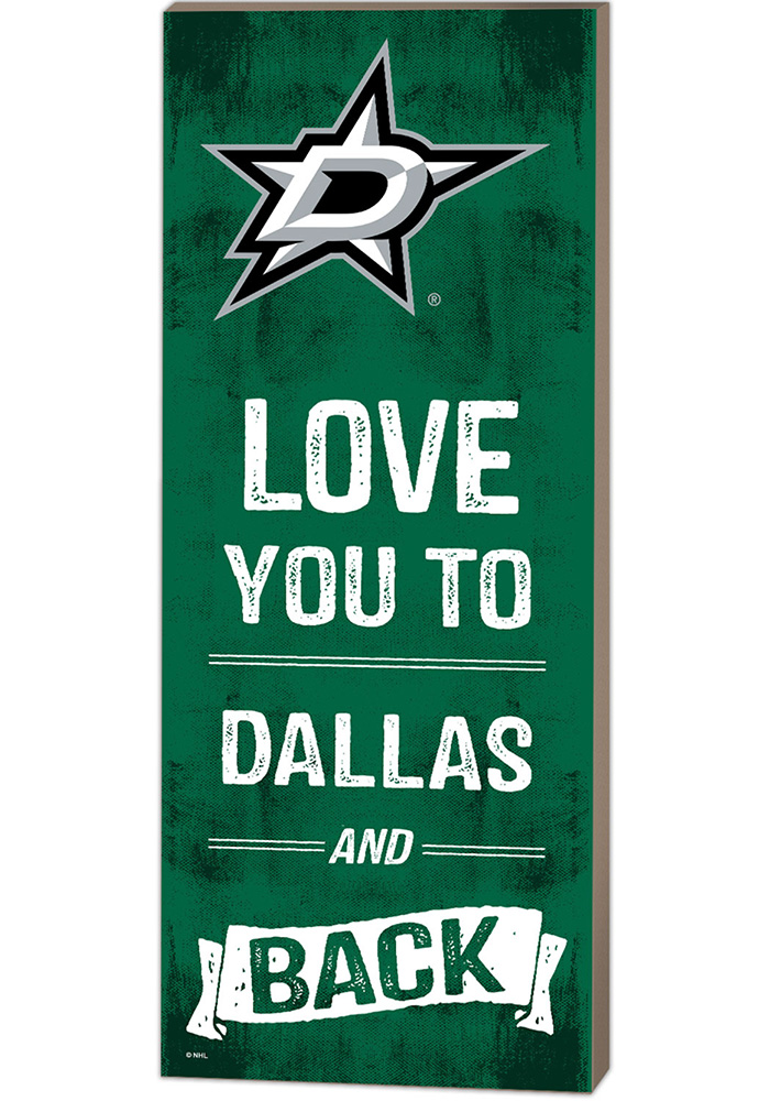 Dallas Stars 18x7 Love You To And Back Wall Art - Image 1