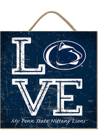 Penn State Nittany Lions 10x10 Textured Love Sign