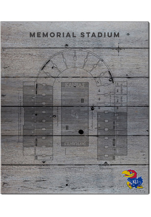 Kansas Jayhawks 16x20 Seating Chart Memorial Stadium Sign