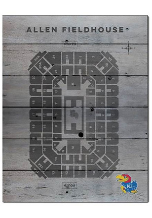 Kansas Jayhawks 16x20 Seating Chart Allen Fieldhouse Sign