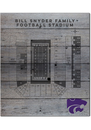 K-State Wildcats 16x20 Seating Chart Sign