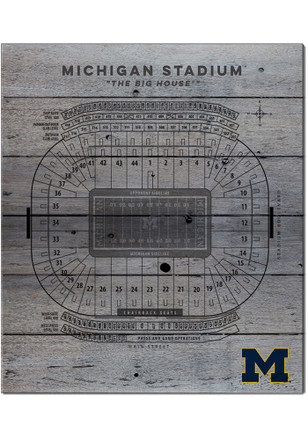 Michigan Wolverines 16x20 Seating Chart Sign