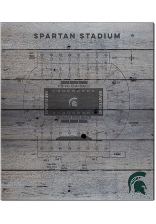 Michigan State Spartans 16x20 Seating Chart Sign