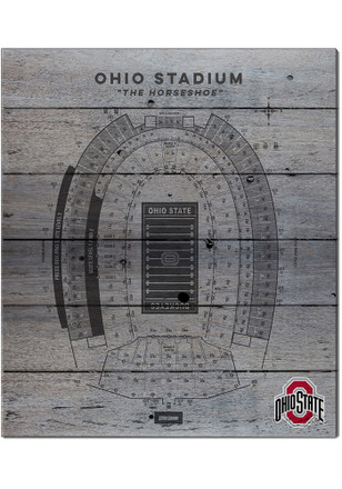 Ohio State Buckeyes 16x20 Seating Chart Sign