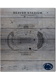 Penn State Nittany Lions 16x20 Seating Chart Sign