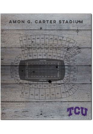 TCU Horned Frogs 16x20 Seating Chart Sign