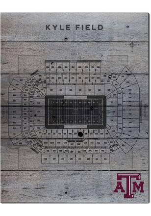 Texas A&M Aggies 16x20 Seating Chart Sign