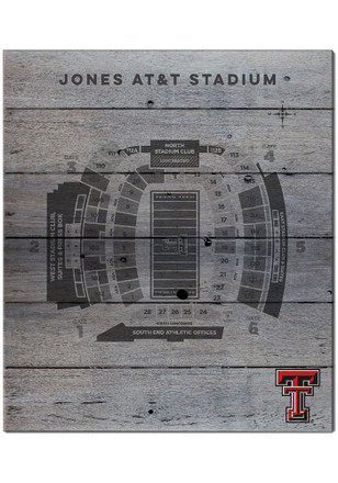 Texas Tech Red Raiders 16x20 Seating Chart Sign