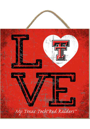 Texas Tech Red Raiders 10x10 Textured Love Sign