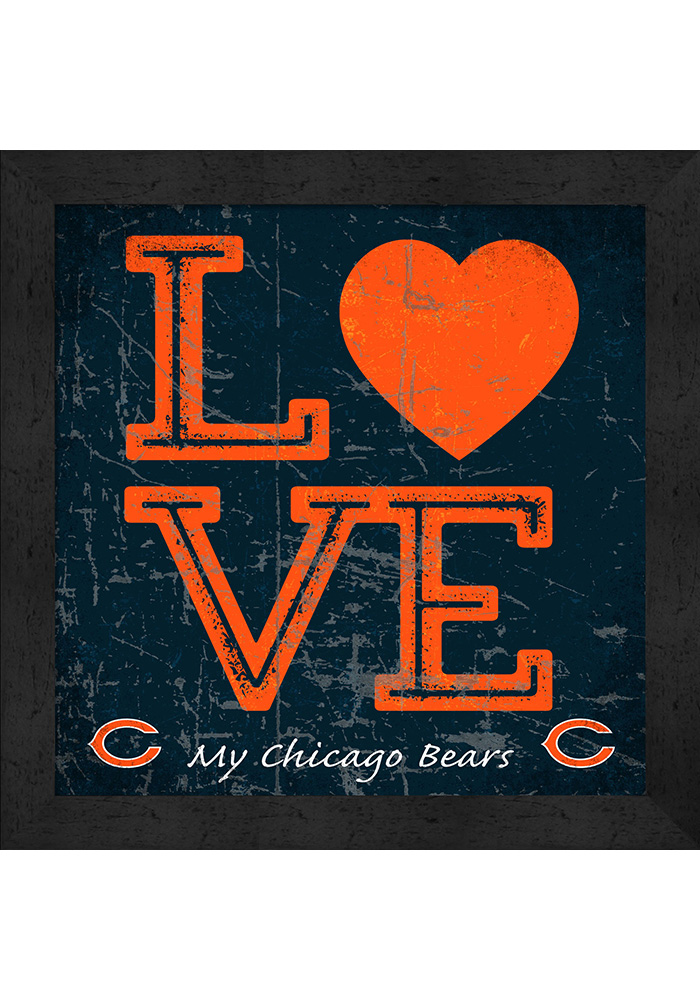 Chicago Bears 13X13 Textured Love Plaque