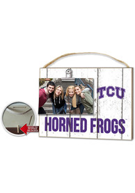 TCU Horned Frogs 10x8 Clip It Photo Sign