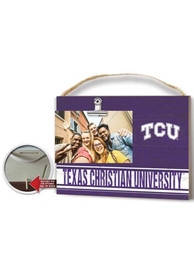 TCU Horned Frogs 10x8 inch Colored Clip It Photo Sign