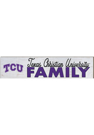 TCU Horned Frogs 3x13 inch Family Sign