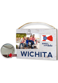 Wichita Clip It Weathered Name Drop Flag Frame Picture Frame