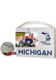 Michigan Clip It Weathered Name Drop Flag Frame Picture Frame