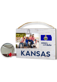 Kansas Clip It Weathered Name Drop Flag Frame Picture Frame