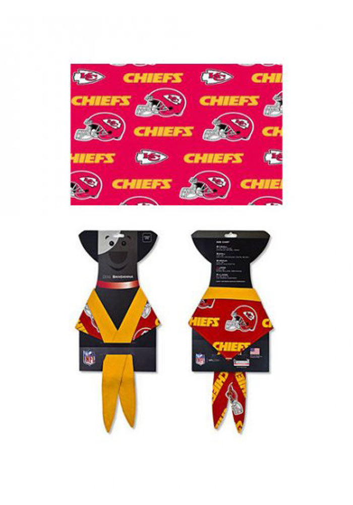 Kansas City Chiefs Dog Pet Bandana - Image 1