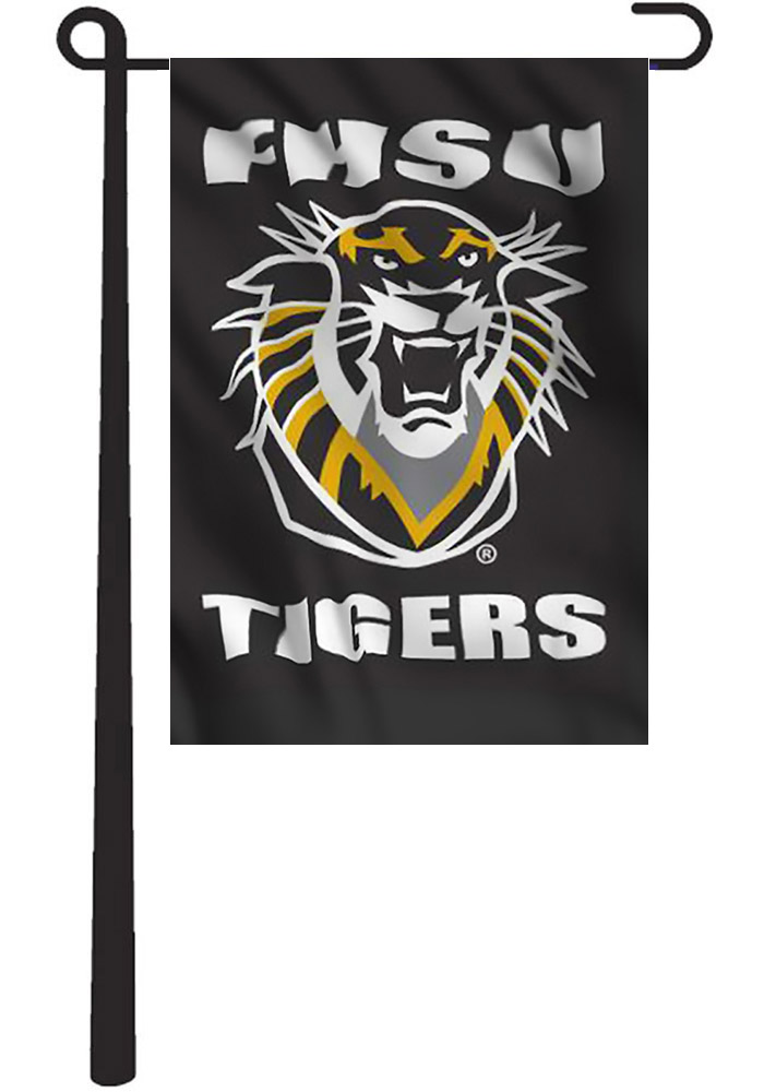 Fort Hays State Tigers 13x18 Black Garden Flag - Image 1