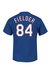 Prince Fielder Texas Rangers Blue Name and Number Player Tee