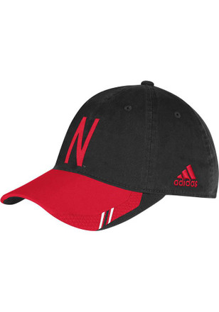 Adidas Nebraska Cornhuskers Mens Black Unrivaled Coaches Slouch Adjustable Hat