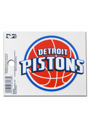 Detroit Pistons Small Auto Static Cling