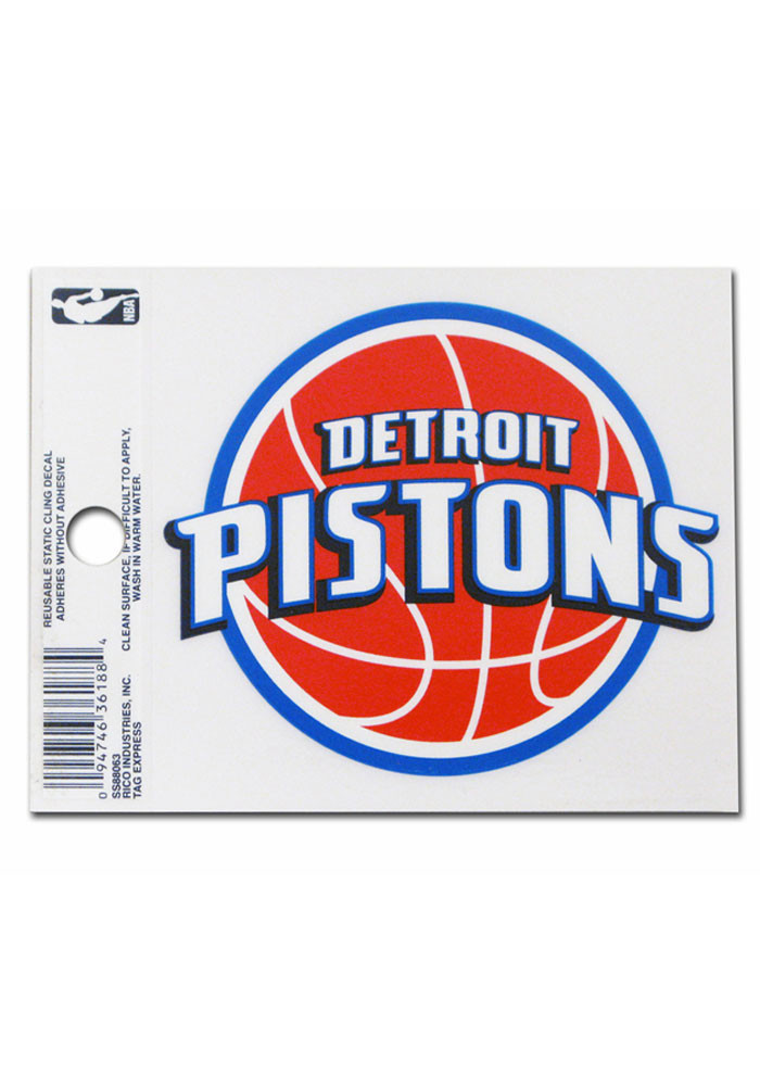 Detroit Pistons Small Auto Static Cling - Image 1