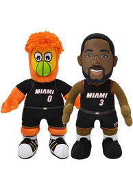 Miami Heat Dwyane Wade and Burnie Bundle 10 inch Plush